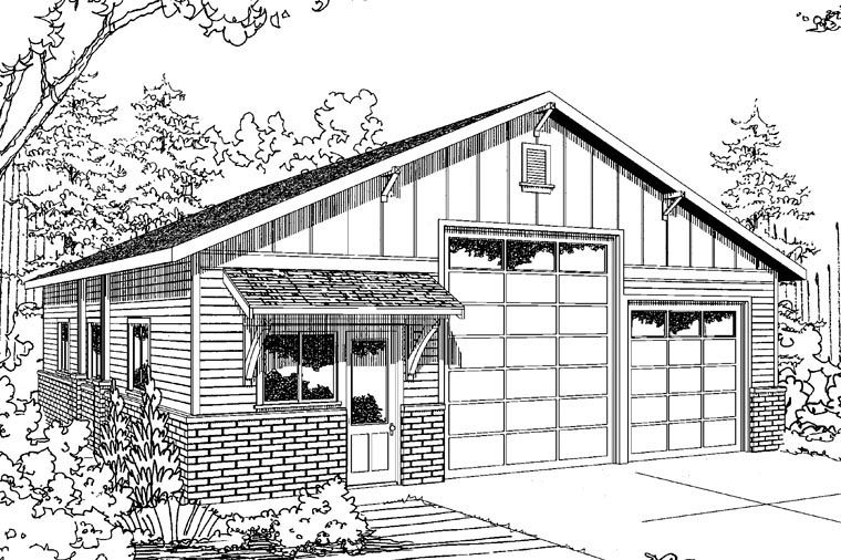 Traditional 4 Car Garage Plan 41155 Picture 3