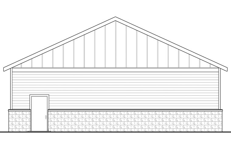 Traditional 4 Car Garage Plan 41155 Rear Elevation