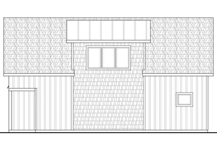 Craftsman, Farmhouse 2 Car Garage Apartment Plan 41156 with 2 Beds, 1 Baths Picture 2