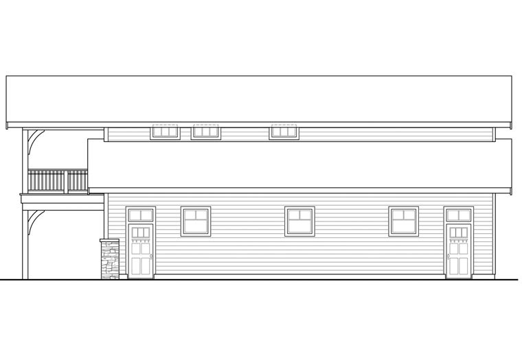 Country 6 Car Garage Plan 41159 Picture 2