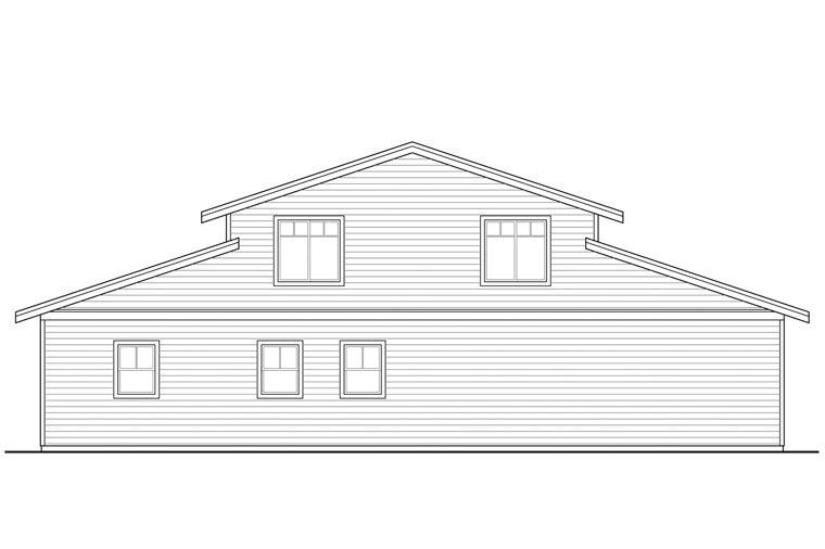 Country 6 Car Garage Plan 41159 Rear Elevation