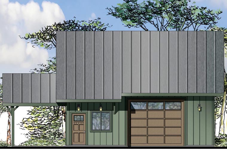 Craftsman 2 Car Garage Plan 41160 Elevation