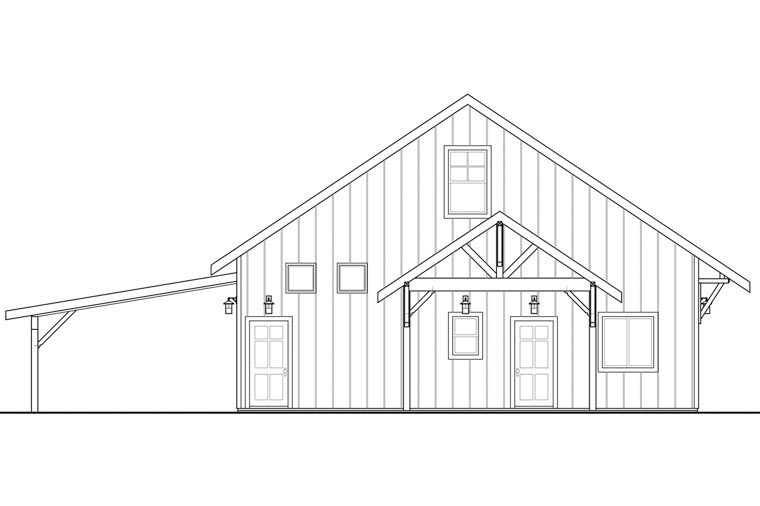 Craftsman 2 Car Garage Plan 41160 Picture 1