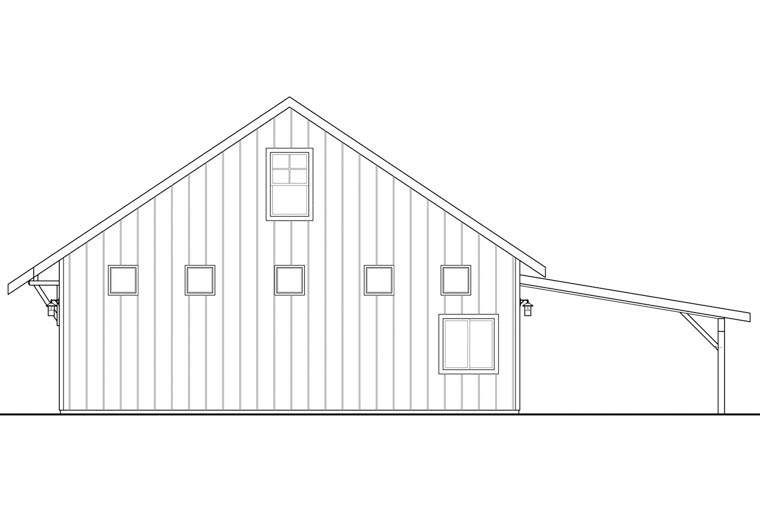 Craftsman 2 Car Garage Plan 41160 Picture 2