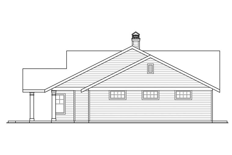 Contemporary, Country, Prairie, Ranch, Traditional House Plan 41164 with 3 Beds, 3 Baths, 4 Car Garage Picture 2