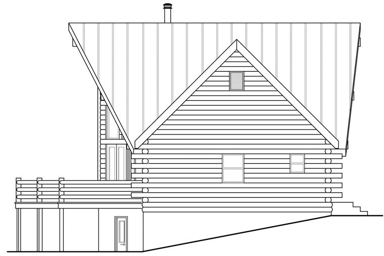A-Frame, Cottage House Plan 41165 with 2 Beds, 3 Baths, 2 Car Garage Picture 2