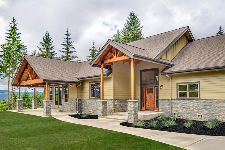 Bungalow, Country, Craftsman, Ranch House Plan 41200 with 3 Beds, 4 Baths, 2 Car Garage Picture 2