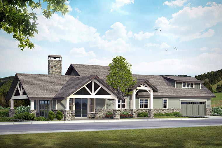 Bungalow, Country, Craftsman, Ranch House Plan 41200 with 3 Beds, 4 Baths, 2 Car Garage Picture 6