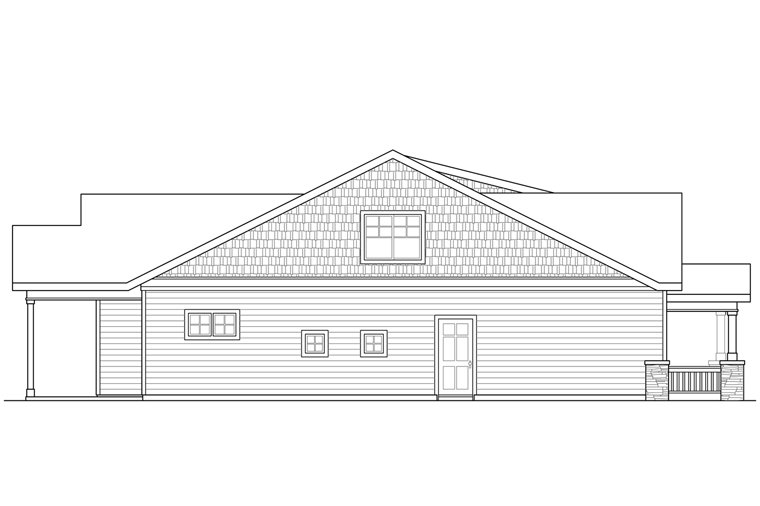 Bungalow, Cottage, Craftsman House Plan 41221 with 3 Beds, 3 Baths, 2 Car Garage Picture 1