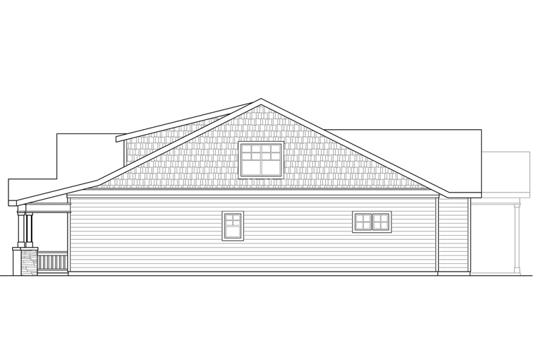 Bungalow, Cottage, Craftsman House Plan 41221 with 3 Beds, 3 Baths, 2 Car Garage Picture 2