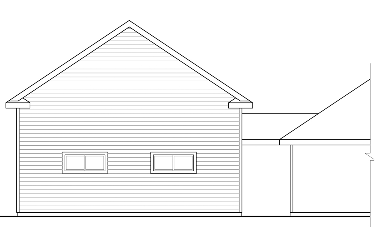 Traditional 2 Car Garage Plan 41248, RV Storage Rear Elevation