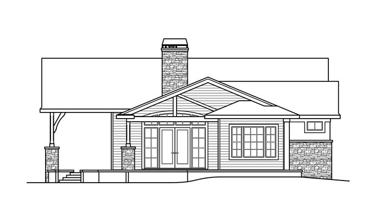 Contemporary, European, Mediterranean, Tuscan House Plan 41254 with 3 Beds, 4 Baths, 2 Car Garage Picture 1