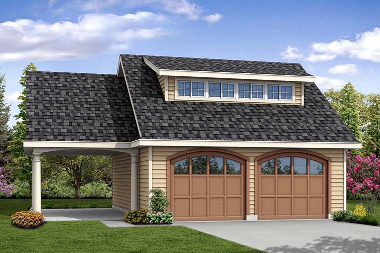 Contemporary 3 Car Garage Plan 41275 Elevation