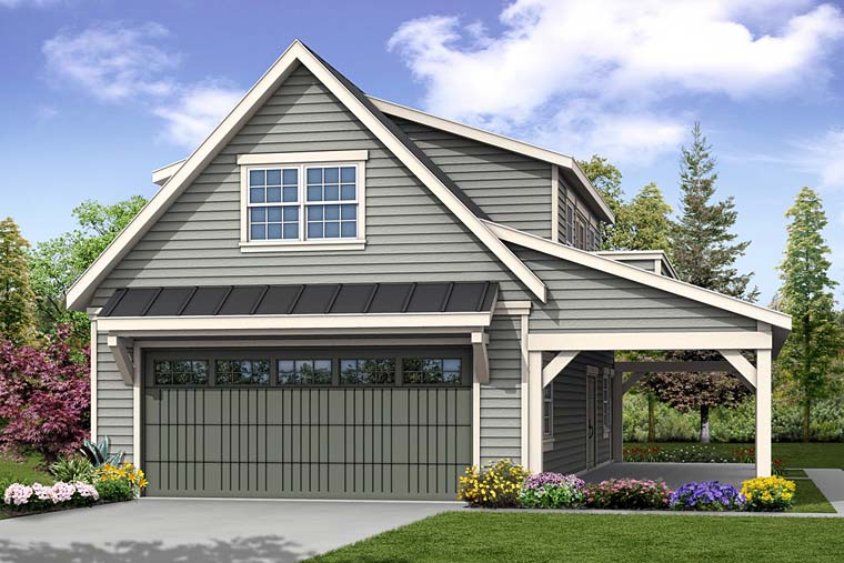 Country, Southern, Traditional 2 Car Garage Plan 41277 Front Elevation