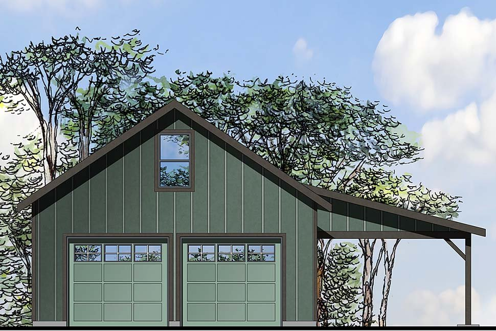 Traditional 2 Car Garage Plan 41296 Elevation