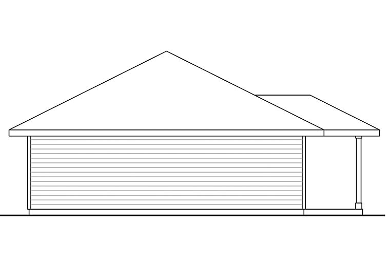 Country 2 Car Garage Apartment Plan 41297 with 1 Beds, 1 Baths Picture 2