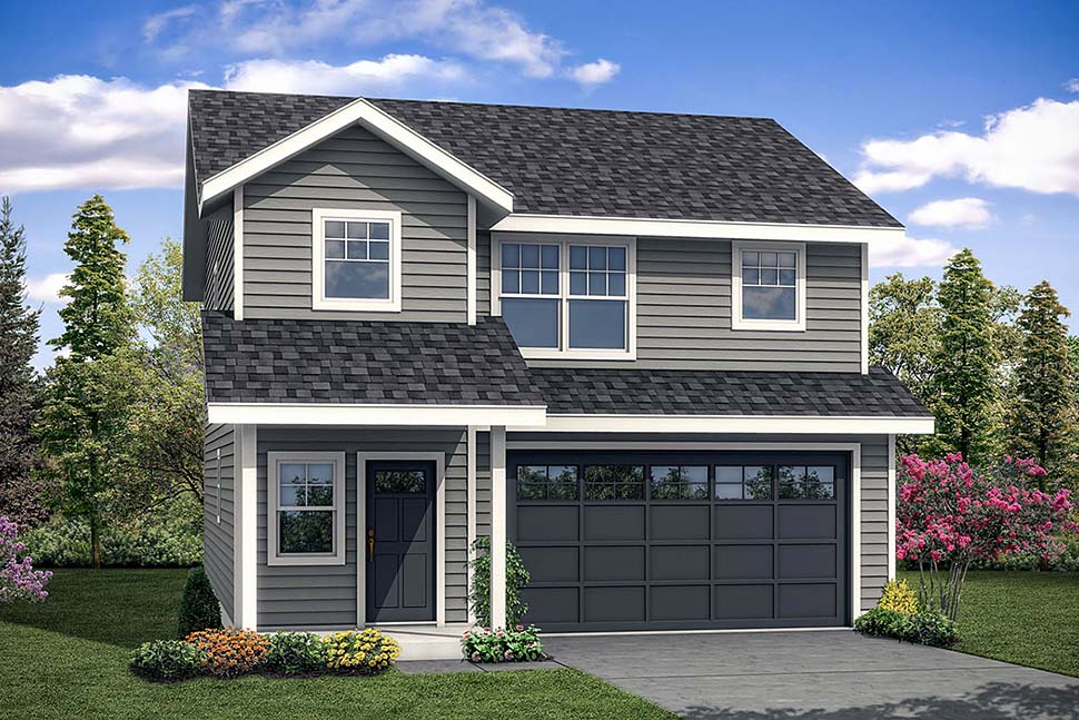 Country, Traditional House Plan 41304 with 3 Beds, 3 Baths, 2 Car Garage Front Elevation