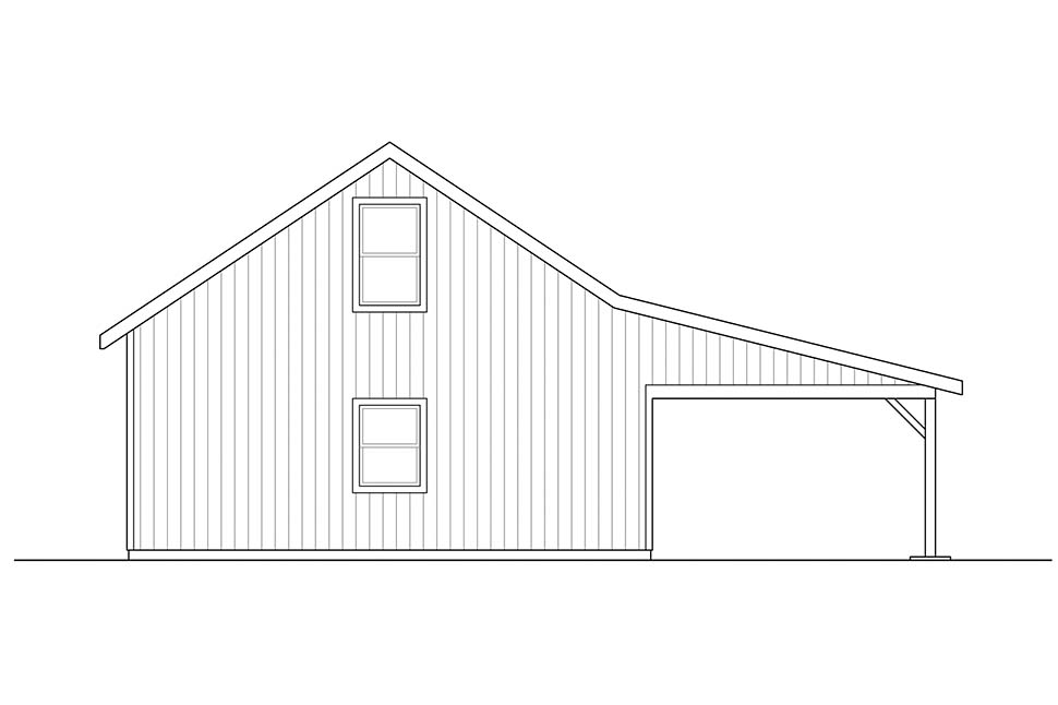 Ranch 2 Car Garage Plan 41314 Rear Elevation