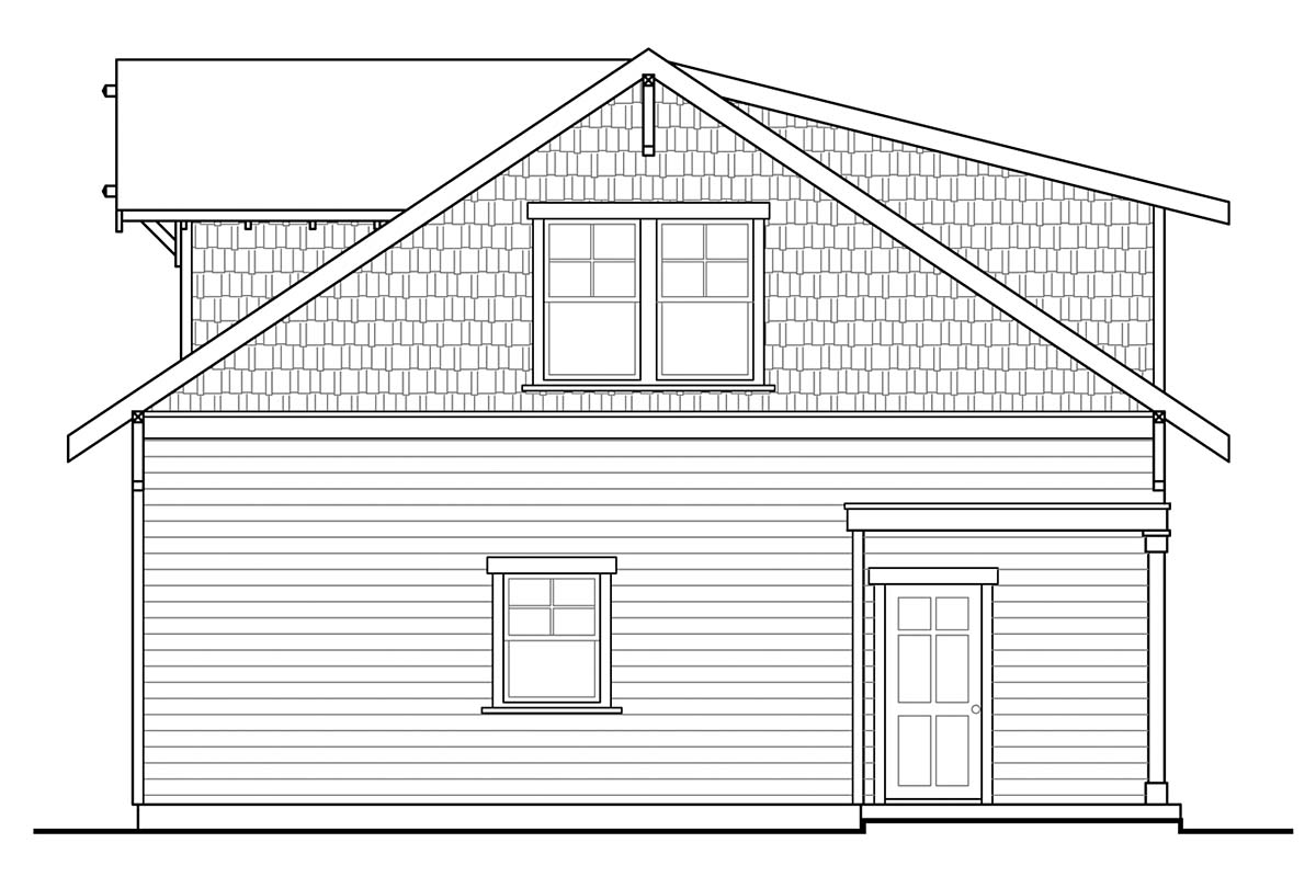 Cottage, Craftsman 2 Car Garage Apartment Plan 41350 Picture 1