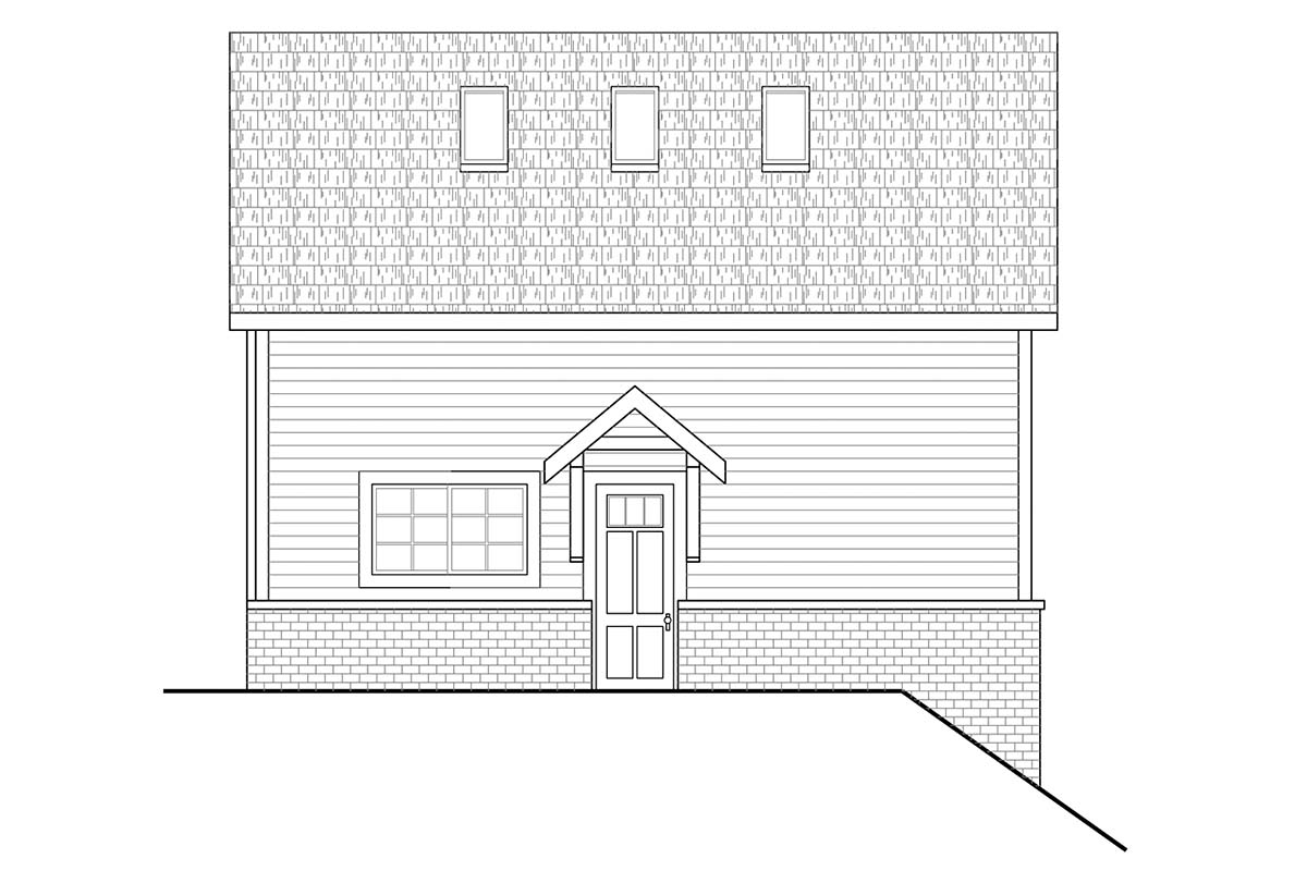 Traditional 2 Car Garage Plan 41362 Picture 1