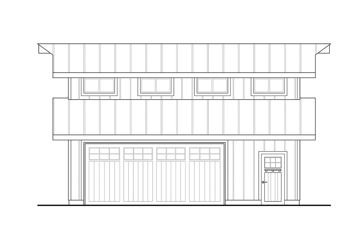 Traditional 2 Car Garage Plan 41364 Picture 2