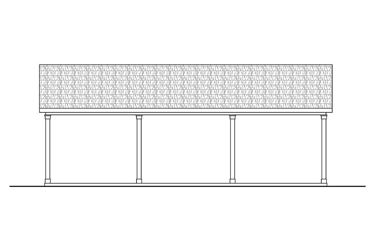 Traditional 4 Car Garage Plan 41365 Picture 2