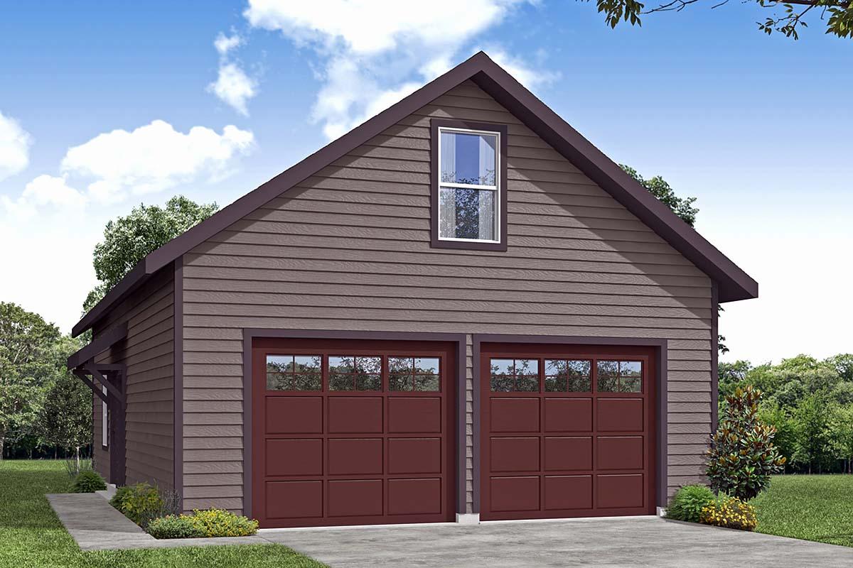 Garage Plan 41367 2 Car Garage Craftsman Style