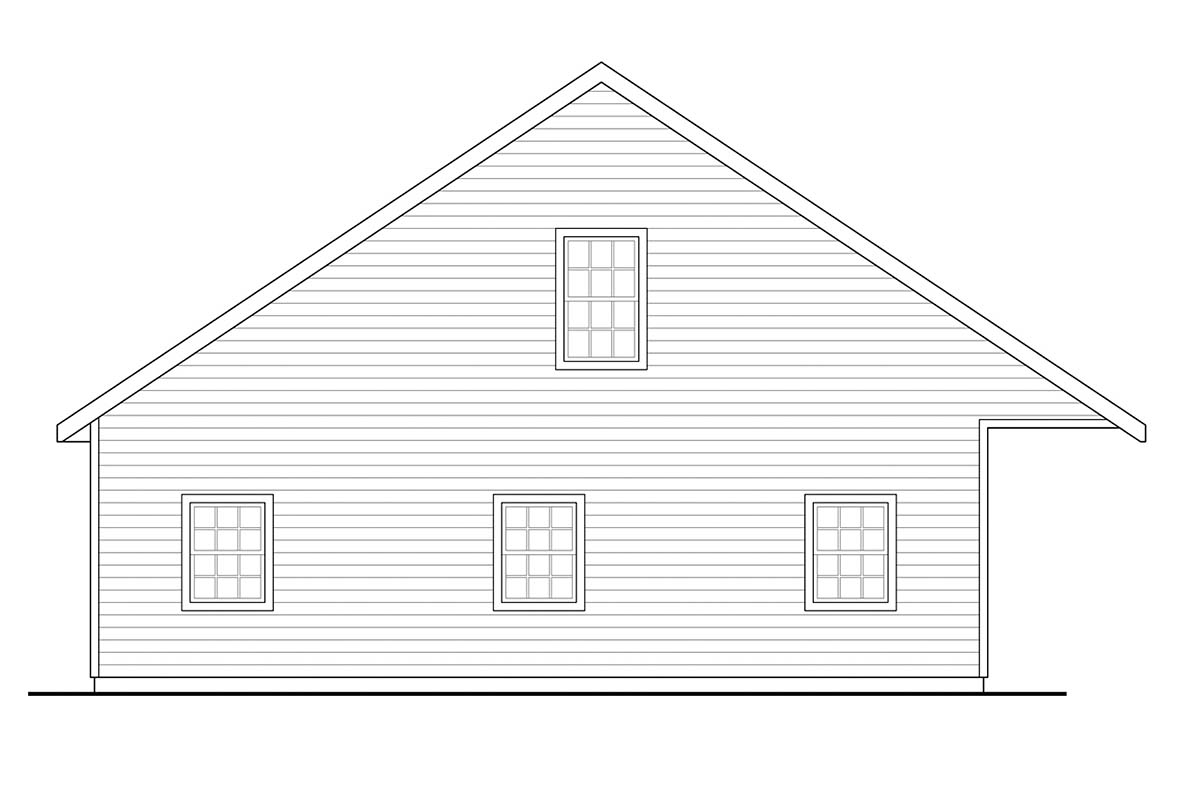 Country, Traditional 3 Car Garage Plan 41373 Picture 2
