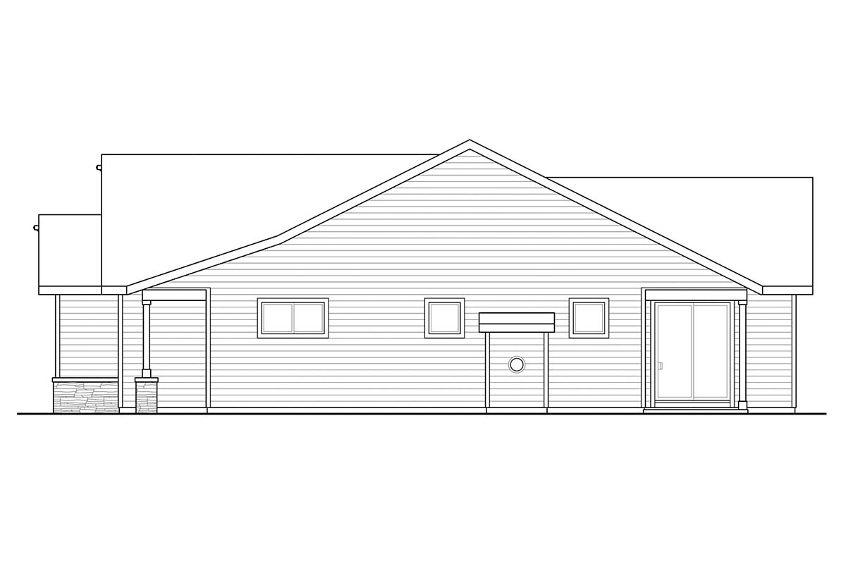Country, Ranch, Traditional House Plan 41375 with 3 Beds, 2 Baths, 2 Car Garage Picture 1