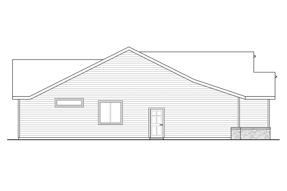 Country, Ranch, Traditional House Plan 41375 with 3 Beds, 2 Baths, 2 Car Garage Picture 2