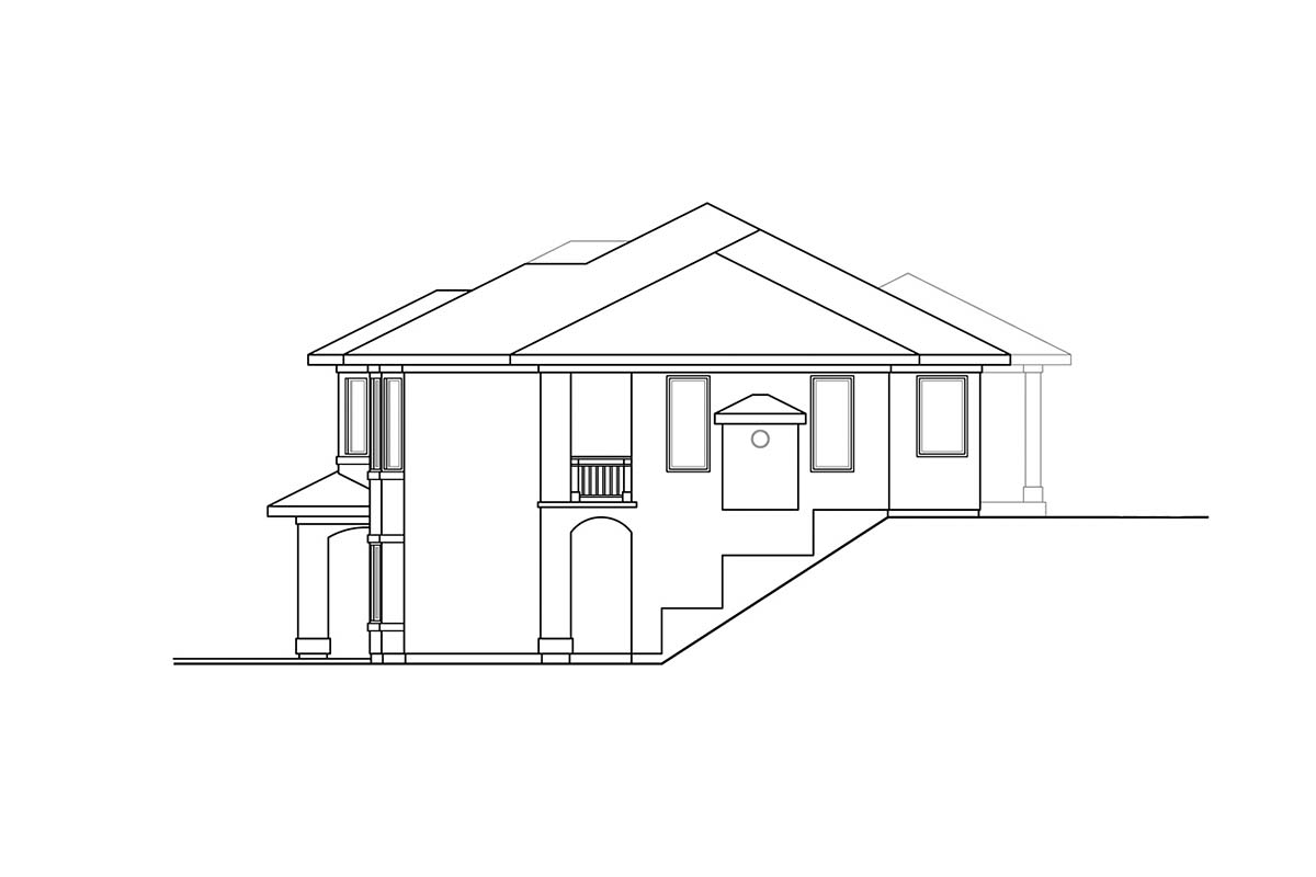 Mediterranean, Southwest House Plan 41376 with 3 Beds, 3 Baths, 2 Car Garage Picture 1