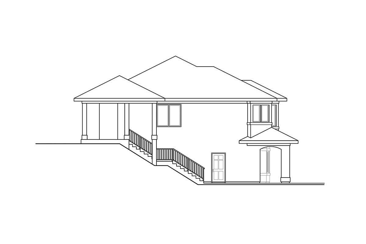 Mediterranean, Southwest House Plan 41376 with 3 Beds, 3 Baths, 2 Car Garage Picture 2