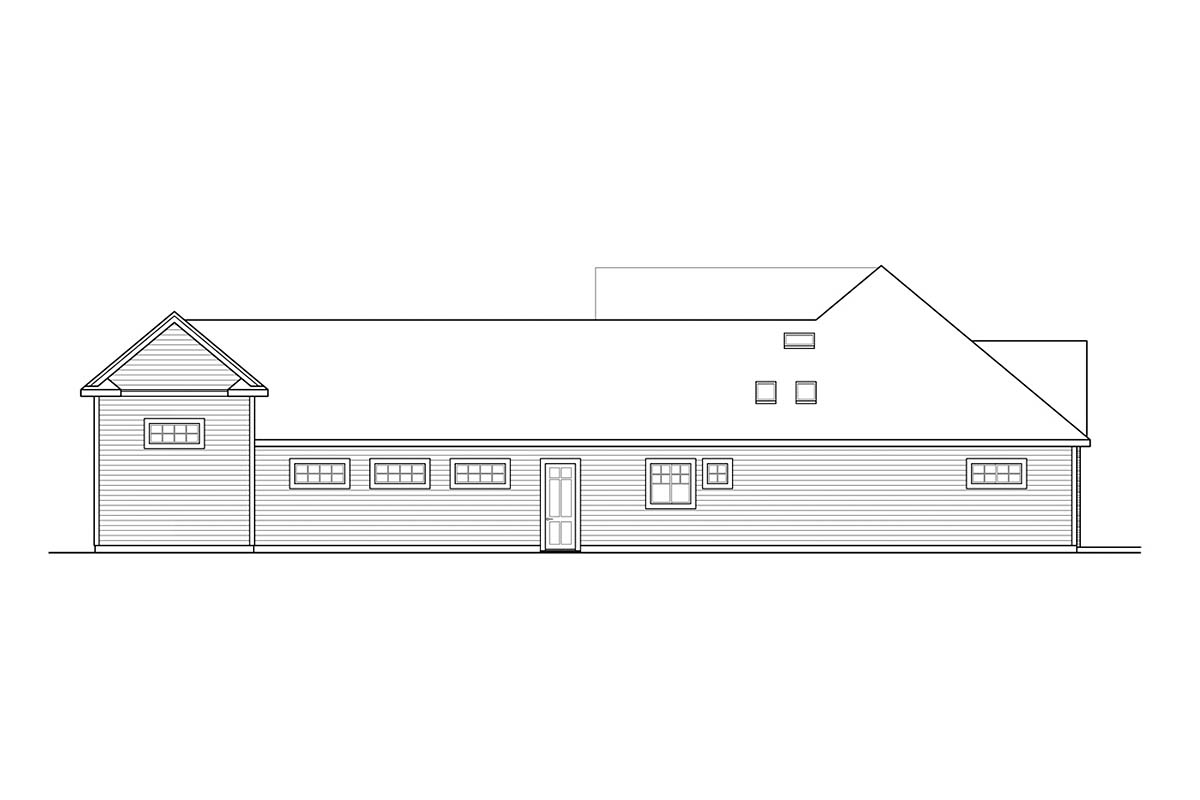 Country, Craftsman, Ranch House Plan 41377 with 2 Beds, 3 Baths, 3 Car Garage Picture 1