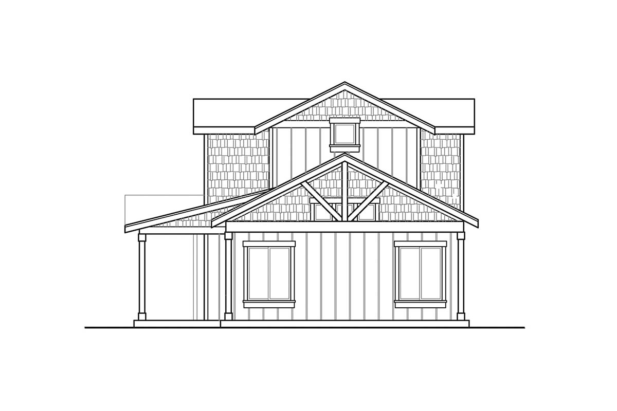 Country, Craftsman, Farmhouse House Plan 41381 with 3 Beds, 3 Baths, 2 Car Garage Picture 1