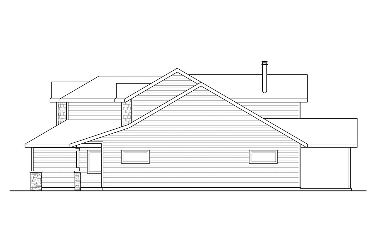 Country, Craftsman, Traditional House Plan 41384 with 3 Beds, 3 Baths, 2 Car Garage Picture 1
