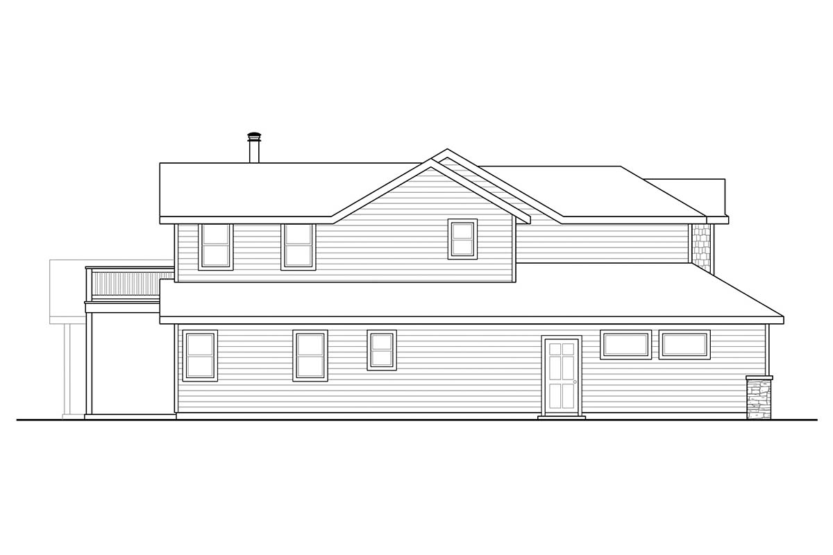 Country, Craftsman, Traditional House Plan 41384 with 3 Beds, 3 Baths, 2 Car Garage Picture 2