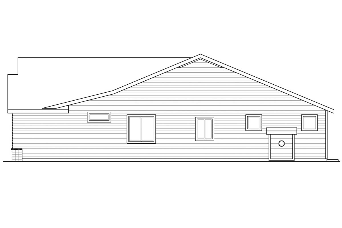 Contemporary, Country, Ranch House Plan 41385 with 3 Beds, 2 Baths, 2 Car Garage Picture 1