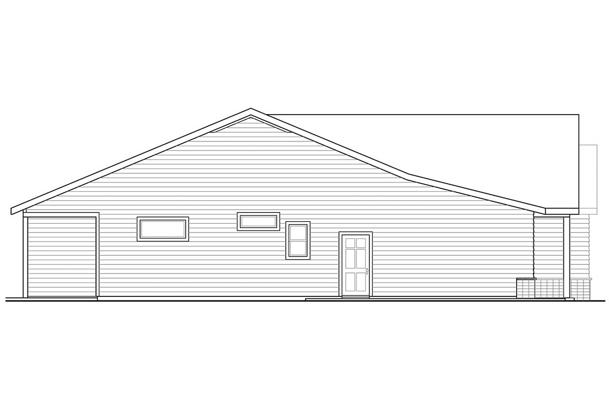 Contemporary, Country, Ranch House Plan 41385 with 3 Beds, 2 Baths, 2 Car Garage Picture 2