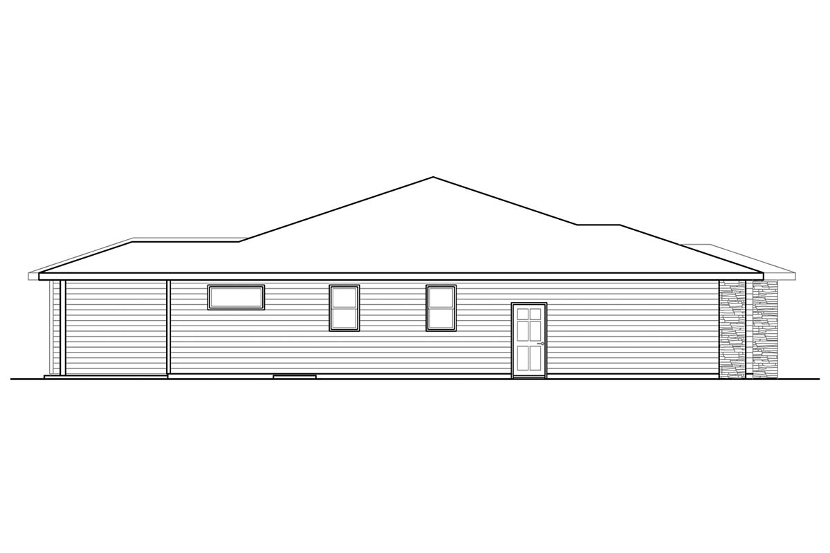 Country, Prairie, Ranch House Plan 41386 with 3 Beds, 3 Baths, 2 Car Garage Picture 2
