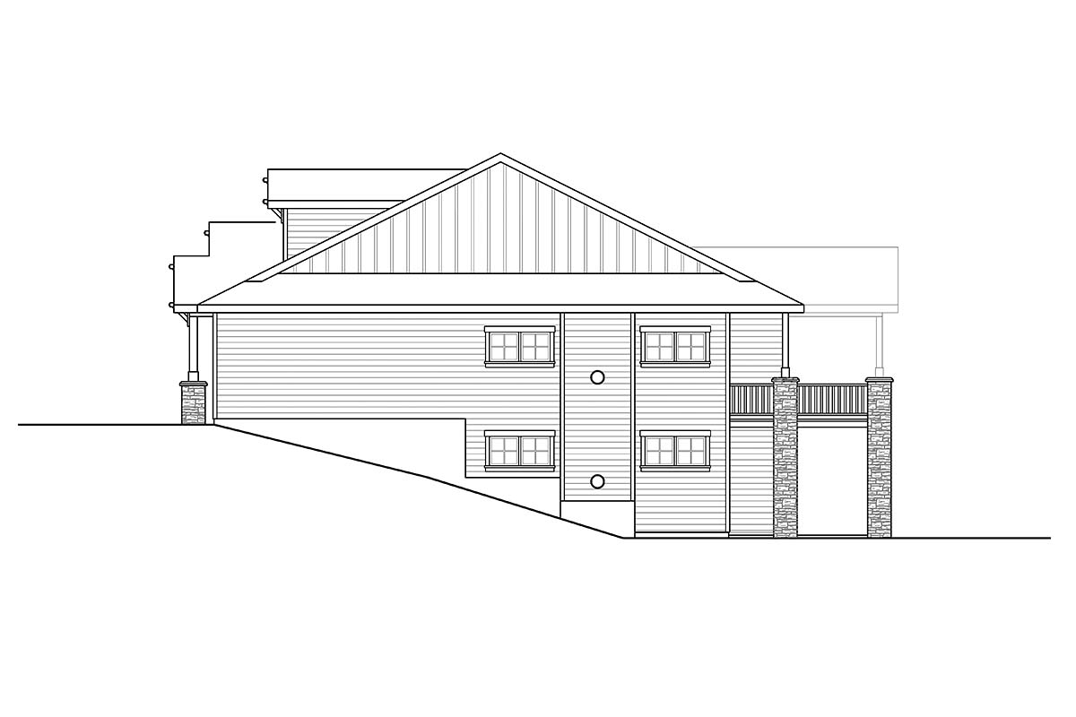 Contemporary, Craftsman House Plan 41391 with 3 Beds, 3 Baths, 2 Car Garage Picture 1
