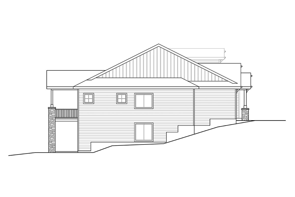 Contemporary, Craftsman House Plan 41391 with 3 Beds, 3 Baths, 2 Car Garage Picture 2