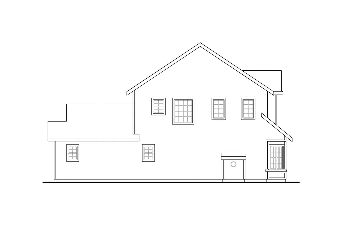 Country, Traditional House Plan 41393 with 4 Beds, 4 Baths, 2 Car Garage Picture 2
