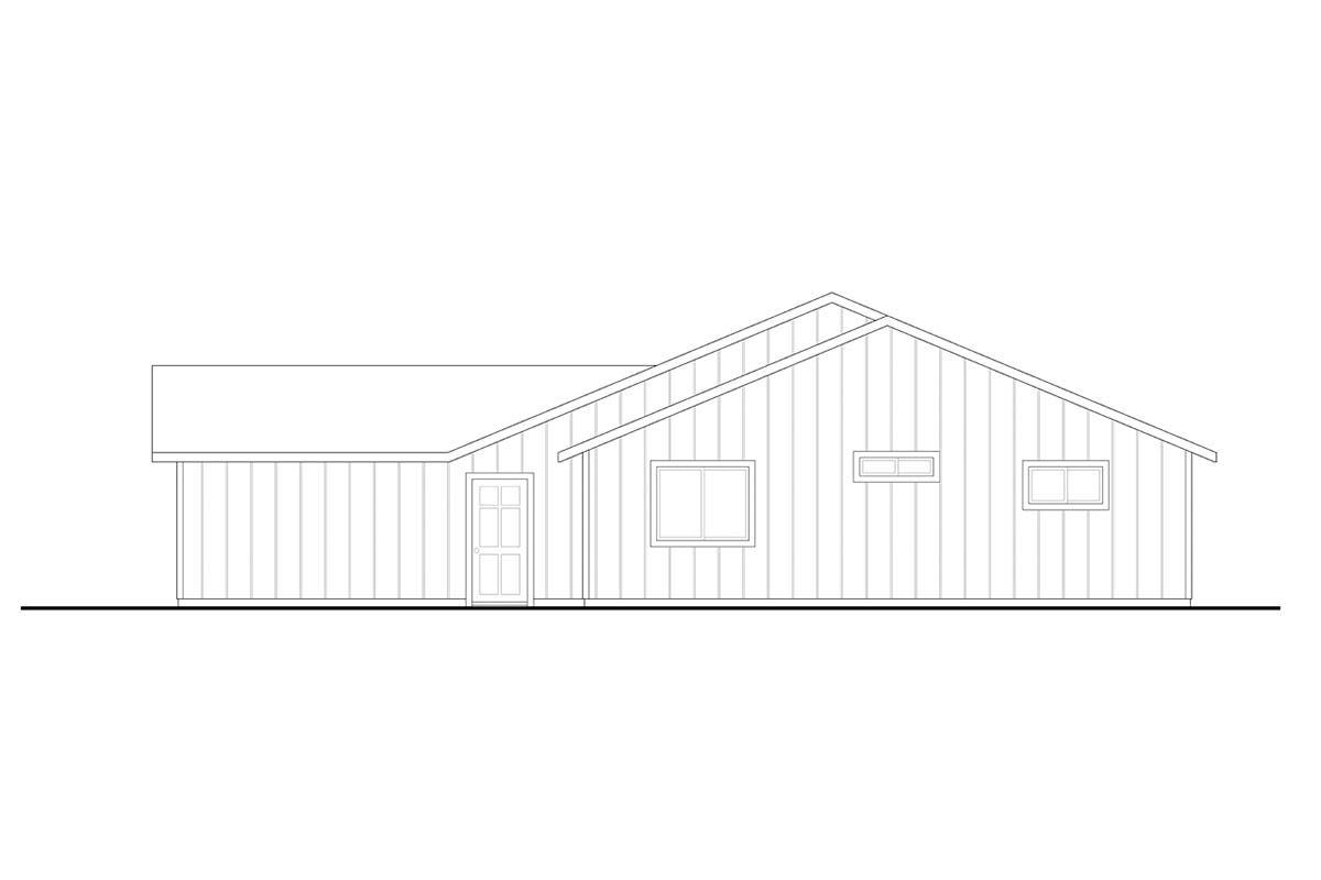 Craftsman, Ranch House Plan 41394 with 4 Beds, 2 Baths, 2 Car Garage Picture 1