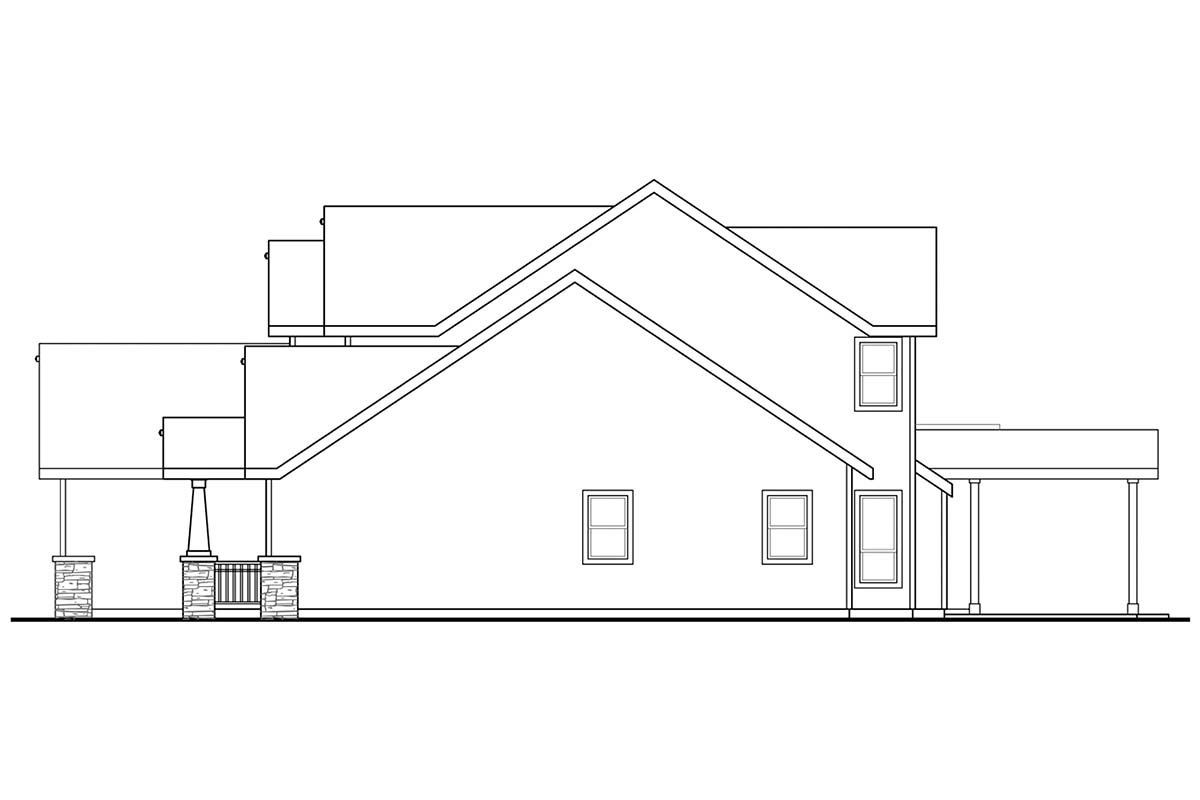 Country, Craftsman, Traditional House Plan 41395 with 5 Beds, 4 Baths, 3 Car Garage Picture 1