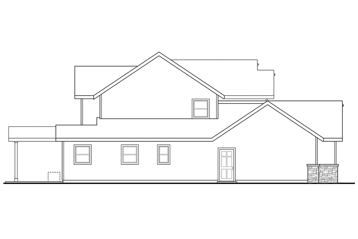 Country, Craftsman, Traditional House Plan 41395 with 5 Beds, 4 Baths, 3 Car Garage Picture 2