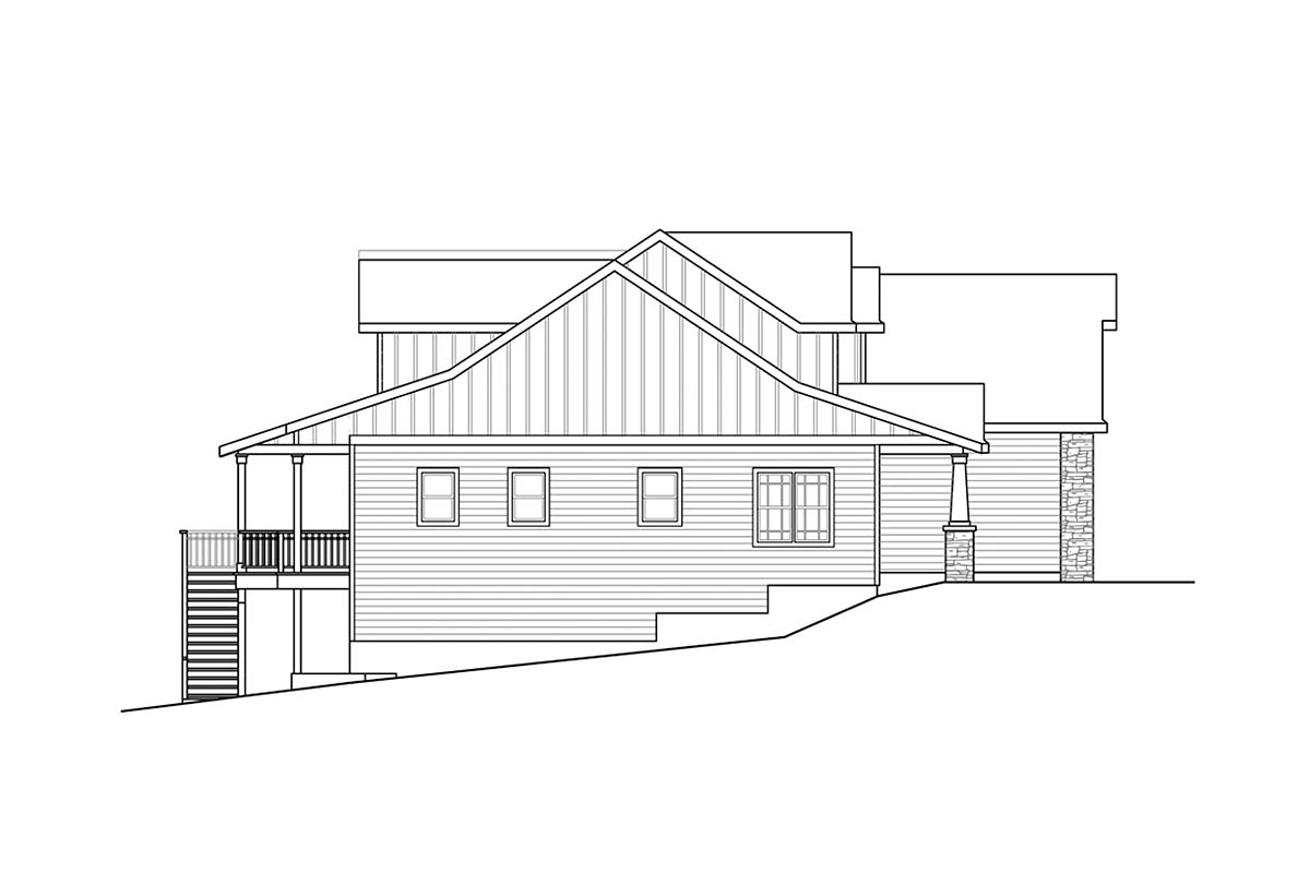 Craftsman, European, Traditional House Plan 41398 with 3 Beds, 3 Baths, 2 Car Garage Picture 2