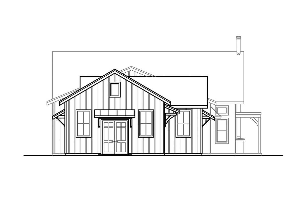 Country, Craftsman, Ranch, Traditional House Plan 41399 with 4 Beds, 2 Baths, 2 Car Garage Picture 2