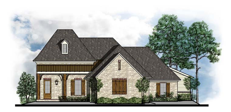 Cottage, Country, Craftsman, French Country House Plan 41542 with 4 Beds, 3 Baths, 3 Car Garage Front Elevation