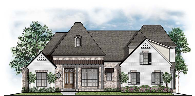 Country, European, French Country, Southern House Plan 41549 with 5 Beds, 5 Baths, 3 Car Garage Elevation