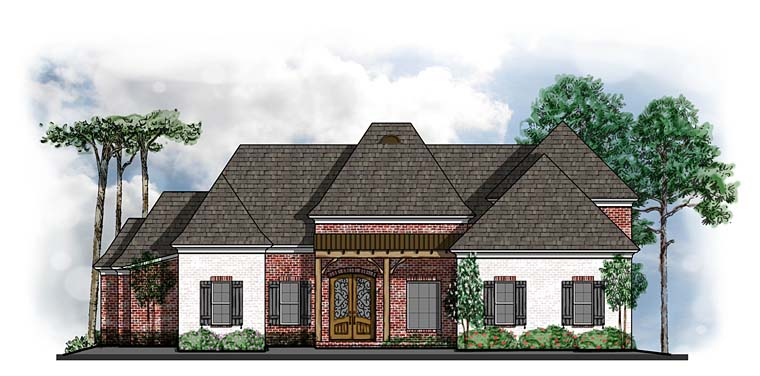 Country, French Country House Plan 41577 with 5 Beds, 7 Baths, 3 Car Garage Elevation